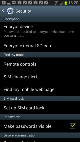 encrypt android phone