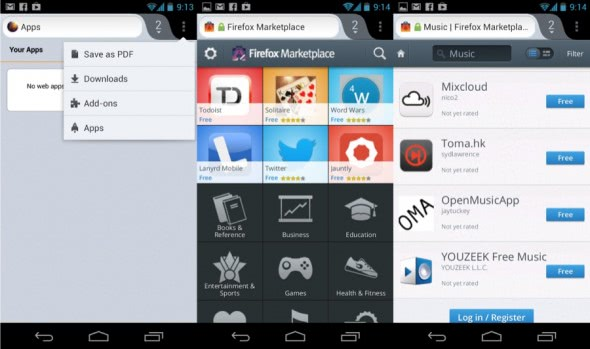 firefox marketplace android