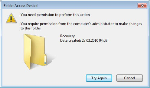 folder access denied