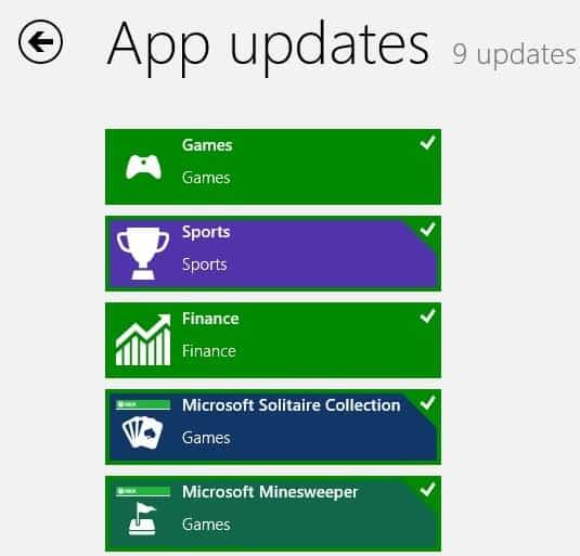 install app updates windows 8