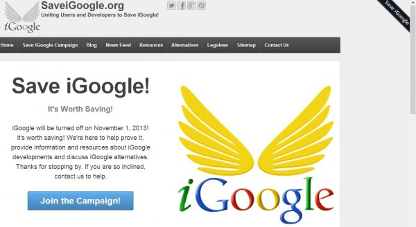 save igoogle