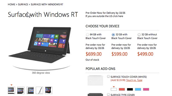 surface rt windows 8