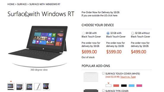surface rt windows 8