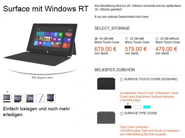 surface with windows rt