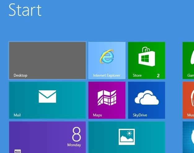 switch startpage windows classic desktop