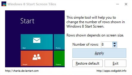 windows 8 start screen tiles