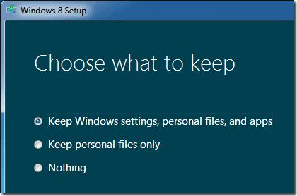 windows 8 upgrade setup