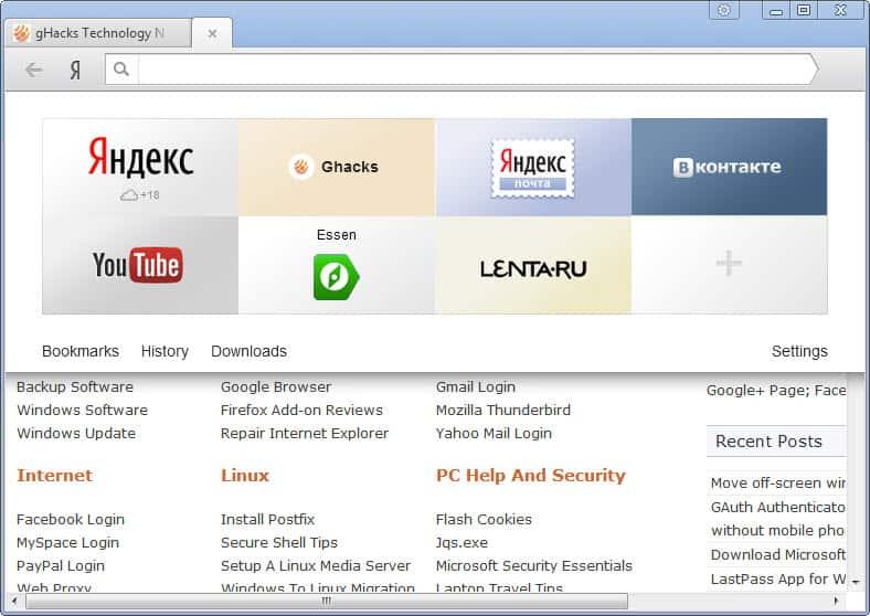 Yandex browser based on Chromium launches - gHacks Tech News