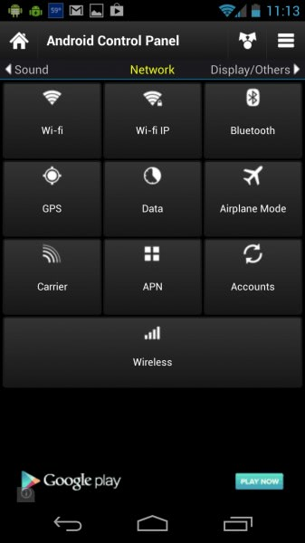 android app panel
