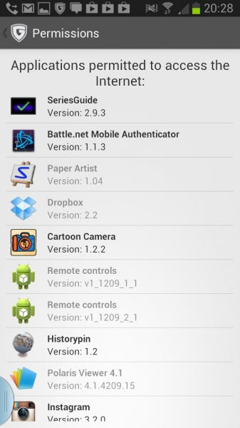 app permissions android