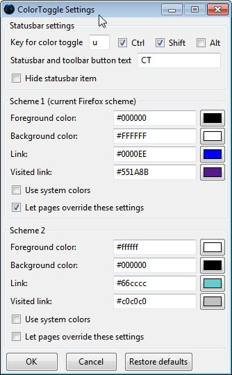color toggle firefox