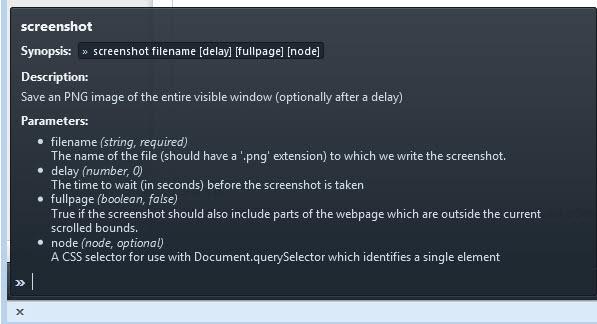 developer toolbar screenshot