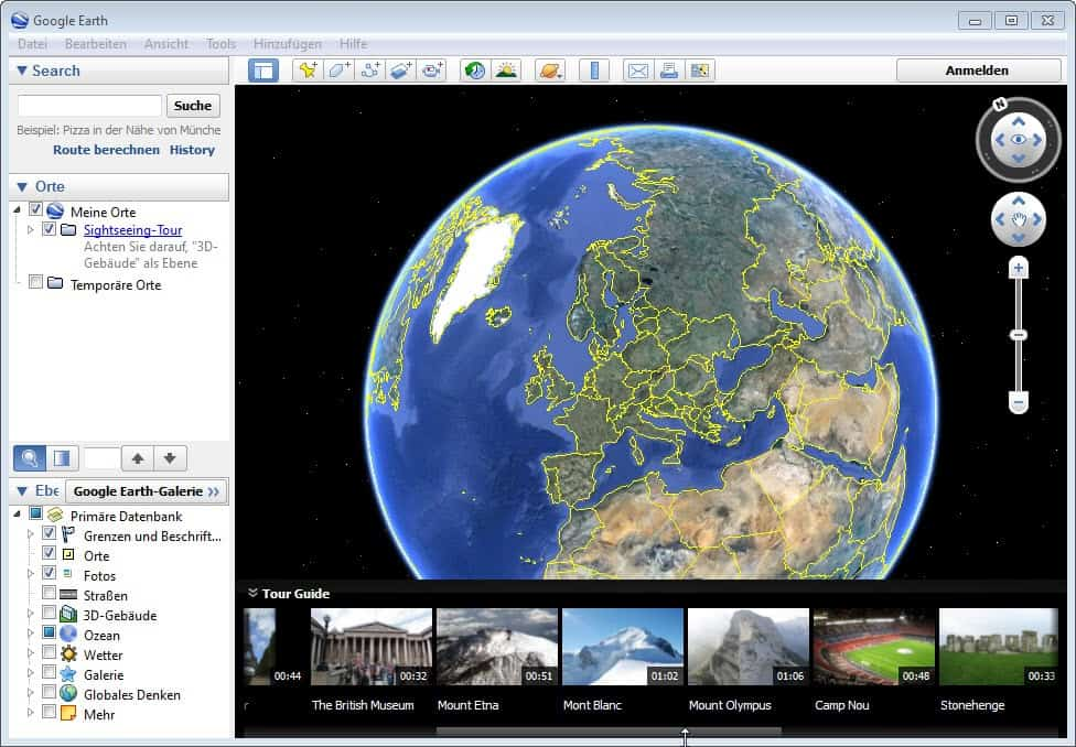 Google Earth 7 with tour guides and 3D imagery - gHacks ...