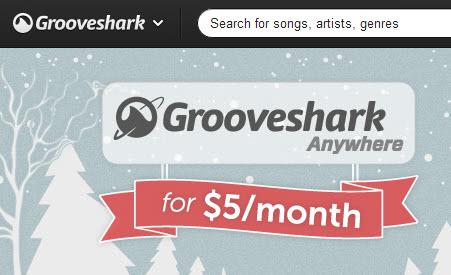 grooveshark anywhere