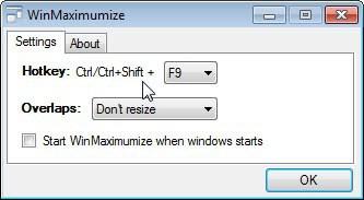 maximize windows
