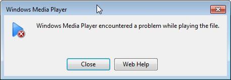 media player encountered problem