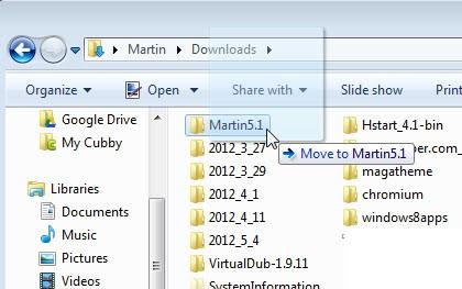 move copy shortcuts windows explorer