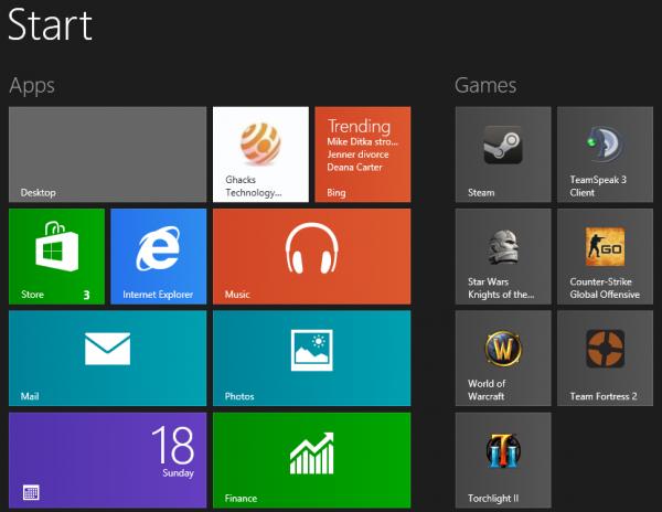 pin steam games to windows8 start screen