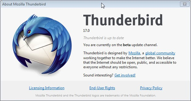 Thunderbird 17 released, find out what's new - gHacks Tech News