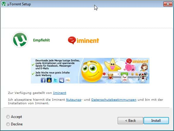 utorrent more ads