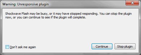 warning unresponsive plugin