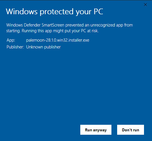 windows 10 protected your pc