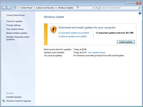 windows update november 2012