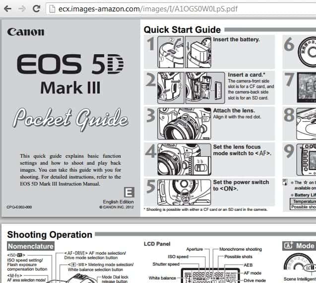 amazon product manuals