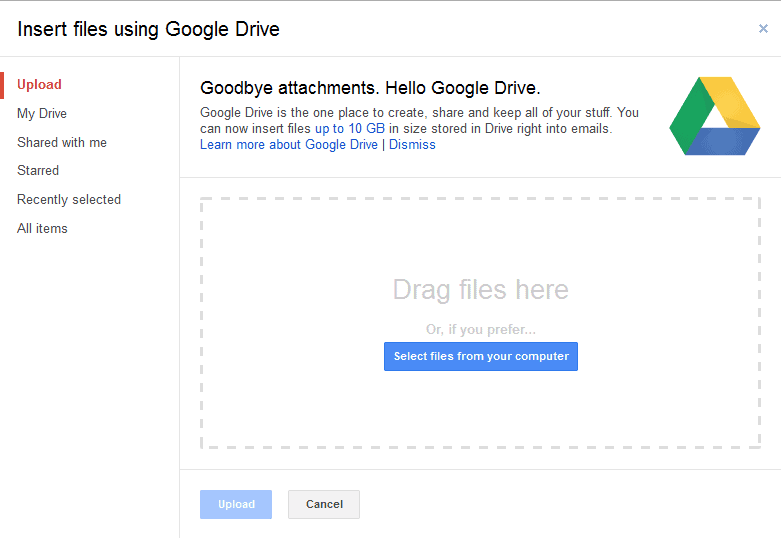 Gmail: sending large files using Google Drive - gHacks Tech News