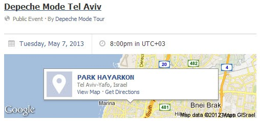 google maps facebook