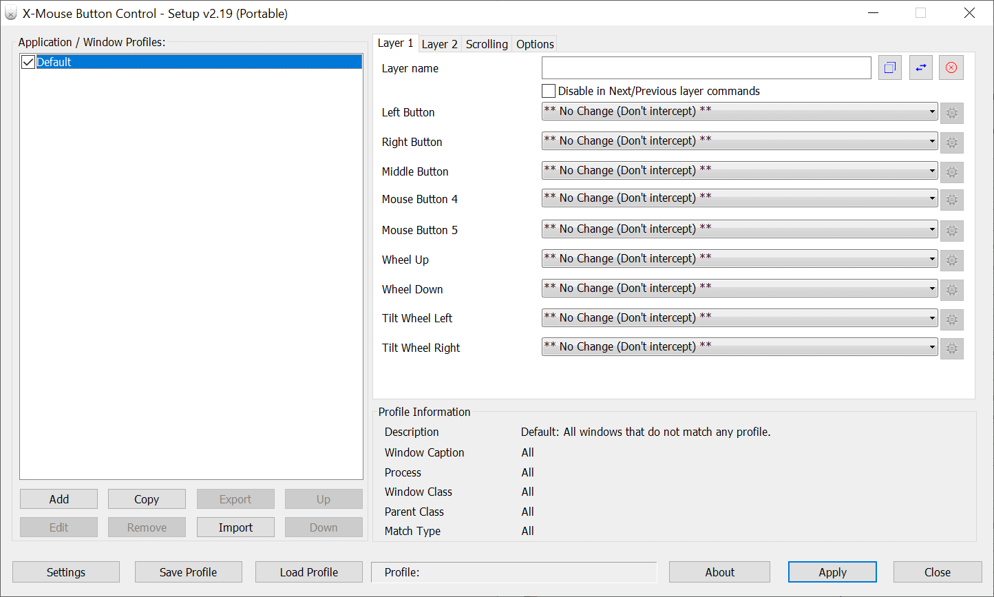 manage windows mouse buttons
