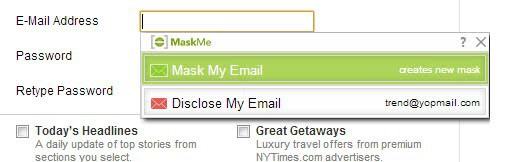 mask email