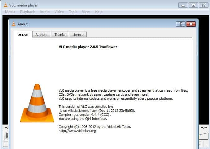 VLC Media Player 2 0 5 released - gHacks Tech News