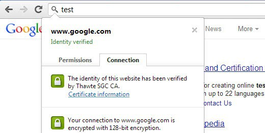 check connection chrome
