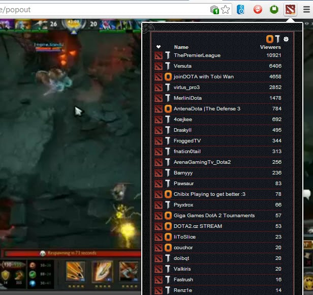 dota2 stream browser
