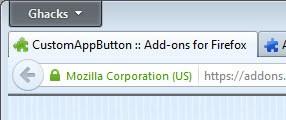 firefox custom menu button
