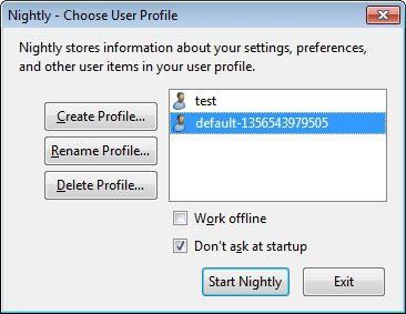 firefox profile manager screenshot