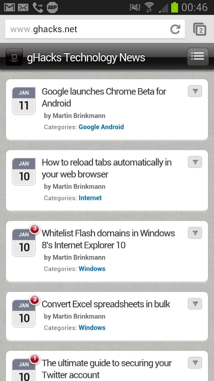 Google launches Chrome Beta for Android - gHacks Tech News