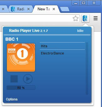 internet radio chrome