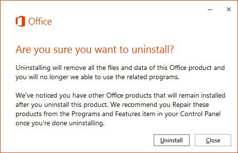 office uninstall