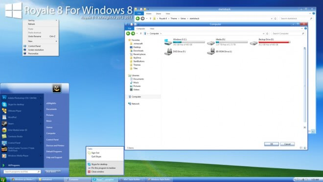 royale 8 for windows 8 pro screenshot