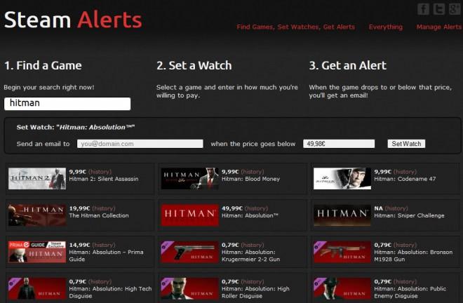 steam alerts price drop notifications