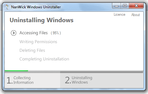 uninstall windows from pc