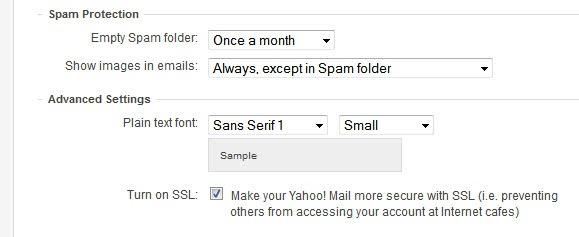 yahoo mail ssl