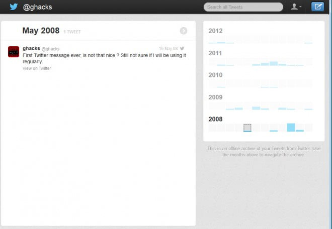 all twitter messages screenshot