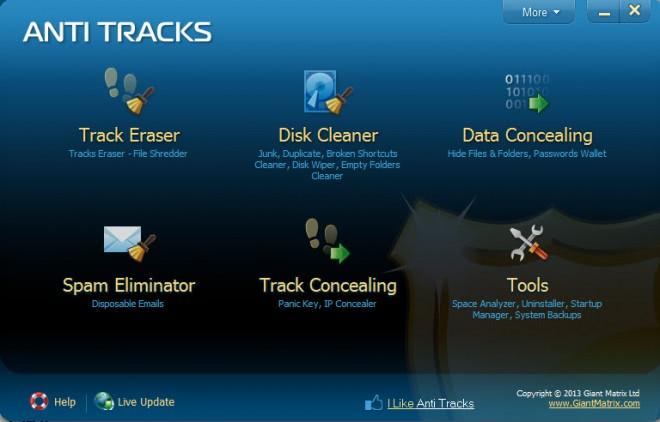 anti tracks screenshot