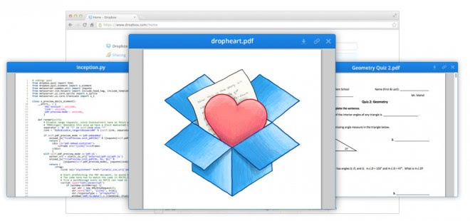 dropbox preview documents screenshots