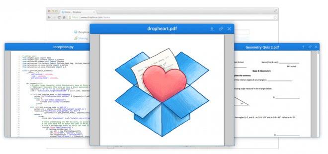 dropbox preview documents screenshots