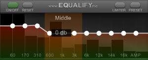 equalify spotify equalizer screenshot