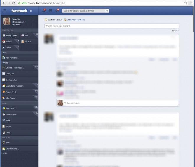 facebook theme makeover screenshot